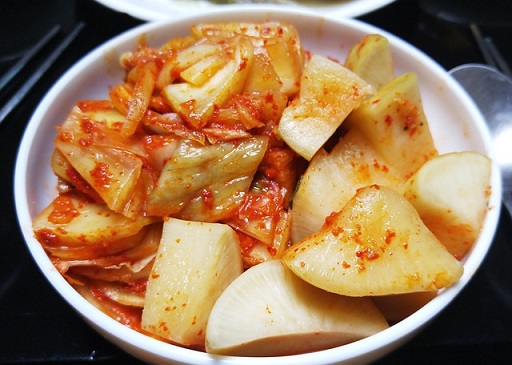 Kimchi is a great source of probiotics.